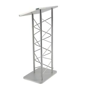 Silver Truss Podium Church Pulpit Conference Lectern School Lectern Event Podium