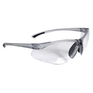 Radians C2 115 Bi focal Clear Safety Reading Glasses W 1 5 Diopter 12 pack