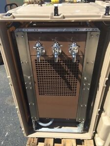 Portable Military Filtered Water Chiller dispenser W case rare Durable Unit