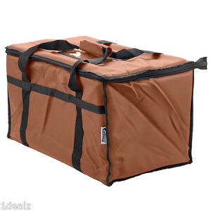 Brown Industrial Nylon Insulated Food Delivery Bag Chafer Pan Carrier 10 Rebate