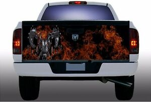 Flame Fire Dodge Ram Truck Tailgate Vinyl Graphic Decal Wrap