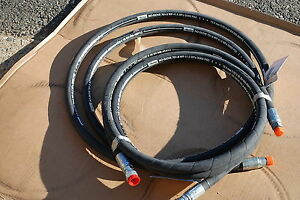 Parker 701 8 No Skive Hydraulic Hose 6000 Psi W jic 10 orb 8 11ft Long 2 Ea New