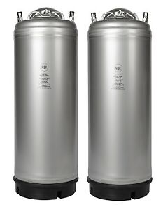 Homebrew 2 Pack New 5 Gallon Ball Lock Kegs Pressure Relief Free Shipping