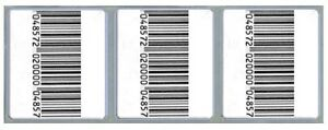 2 000 Checkpoint Comparable Rf 8 2 Mhz Labels 33x38cm Size Fake Barcode
