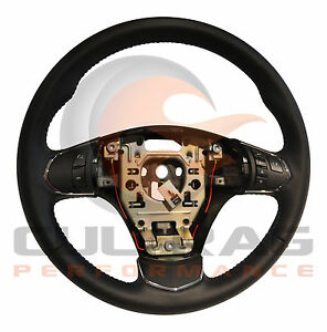 2005 2013 C6 Corvette Genuine Gm Leather Automatic Steering Wheel Blue Stitching