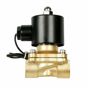 V 1 4 Npt Brass Air Ride Valve Electric Solenoid For Train Horn Fast Suspension