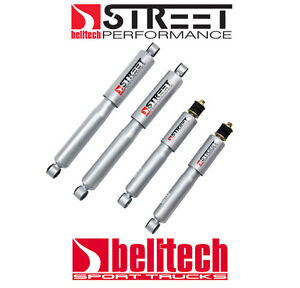 89 97 Ford Ranger 2wd Street Performance Front rear Shocks For 4 5 5 Drop
