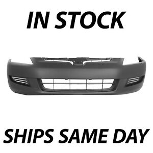 New Primered Front Bumper Cover Fascia For 2003 2004 2005 Honda Accord Coupe