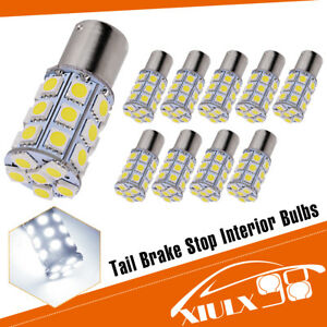 10x White 27 Smd Led 1156 1141 1003 Rv Camper Trailer Interior Light Bulbs