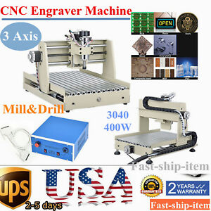 3 Axis 3040 Cnc Router Engraver 3d Engraving Drilling Milling Machine 3d Cutter