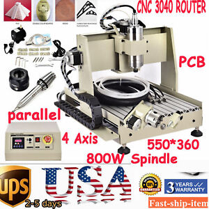Cnc Router 4 Axis 3040 800w Engraving Spindle Motor Vfd Mill drill Mahcine Mach3