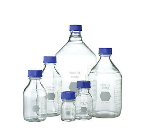 Kimax Gl 45 Media storage Bottle With Blue Pp Cap 250ml cs Of 10