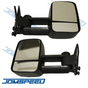 Towing Manual Side View Mirrors Left Right Pair Set For 88 98 Chevy Gmc Truck