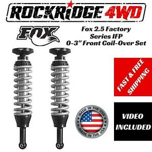 Fox 2 5 Factory Series Ifp 0 2 Front Coil Overs For 07 15 Toyota Tundra 2 4wd