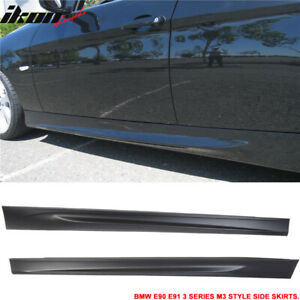 Fits Bmw 06 11 E90 E91 3 Series Sedan Mt Msport M3 Style Side Skirts Pair Pp