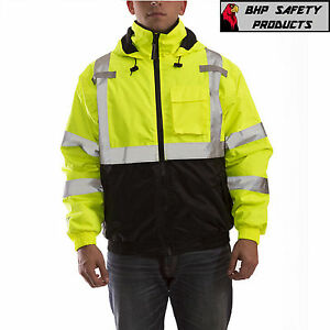 Reflective Bomber Ii Jacket Hi viz Waterproof Ansi Tingley Class 3 J26112 Sm 5x