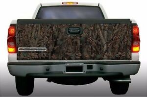 Tribal Deer Hunting Oak Camouflage Truck Tailgate Vinyl Graphic Decal Wraps