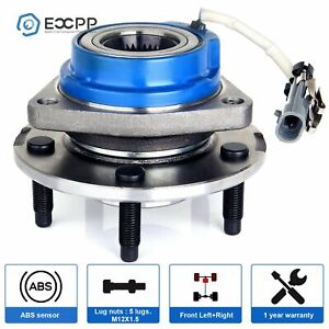 Brand New Front Wheel Hub Bearing Assembly For Chevy Buick Cadillac 5 Lug W Abs