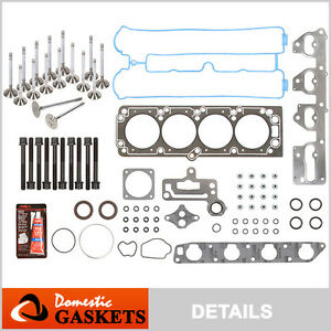 06 08 Suzuki Forenza Reno Optra 2 0l Head Gasket Bolts Set engine Valves A20dms