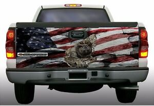 American Flag Usmc Marines Devil Dog Truck Tailgate Vinyl Graphic Decal Wraps