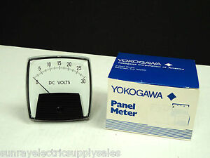 Yokogawa 250 320 nlnl Analog 0 30 Dc Volt Panel Meter New In Box