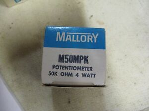 Mallory Model M50mpk Potentiometer 50k Ohm 4 Watts