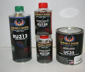House Of Kolor Uc35 Ku150 2 Ru312 Polyurethane Enamel Clear Coat 1 Quart Kit
