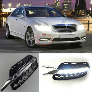 Led Daytime Running Lights Drl For Mercedes Benz W221 S350 S300 S500 S600 09 12
