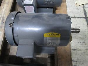 Baldor Ac Motor M3610 3hp 3450rpm 230 460v 7 6 3 8a 60hz 3ph 184 Frame Used