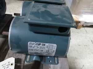 Reliance Ac Motor P56x1306h 1 3hp 1140rpm 230 460v 1 4 0 7a 60hz 3ph Used
