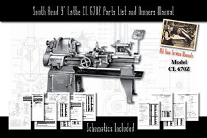 South Bend 9 Lathe Cl 670z Operators Users Manual Parts List 68 Pages Total