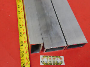3 Pieces 1 x 2 x 1 8 Wall Aluminum Rectangle Tube 6063 T52 X 55 Long 1 0 x 2 0