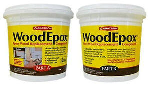 Abatron Woodepox Epoxy Wood Replacement Compound 2 Pints Kit