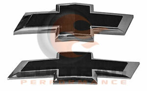 2016 2019 Chevrolet Camaro Genuine Gm Front Rear Black Bowtie Emblems 84219485