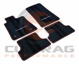 2016 2019 Camaro Genuine Gm Front Rear Floor Mats Black Red 23283734