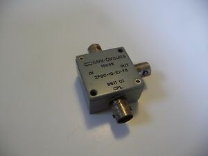 Mini circuits Zfdc 10 21 75 Coaxial Directional Coupler 75 10 To 750mhz