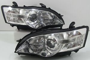 Subaru Legacy Liberty Bpe Bp5 Bl5 Sti Wrx Oem Hid Chrome Head Light Headlamp Jdm