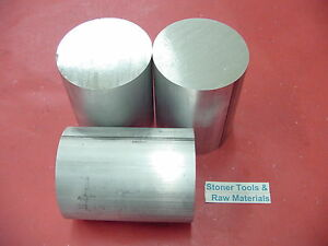 3 Pieces 2 3 4 Od Aluminum 6061 Round Rod 3 Long T6511 Solid Lathe Bar Stock