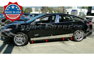 2013 2019 Ford Fusion Chrome Rocker Panel Body Side Trim Accent Stainless Steel