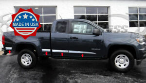 2013 2020 Chevy Colorado Canyon Extended Cab Flat Body Side Molding Trim 8pc