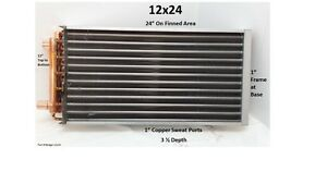 12x24 Water To Air Heat Exchanger 1 Copper Ports W Ez Install Front Flange