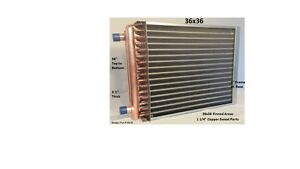 36x36 Water To Air Heat Exchanger With 1 1 4 Ports W Ez Install Front Flange