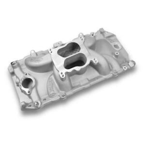 Weiand Intake Manifold 8123wnd Street Warrior Dual Plane Aluminum For Bbc