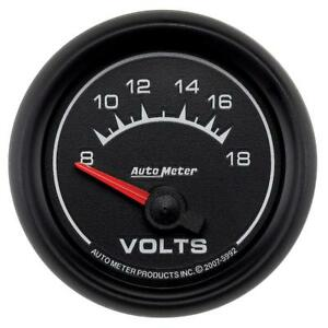 Auto Meter Voltmeter Gauge 5992 Es 8 To 18 Volts 2 1 16 Short Sweep Electrical