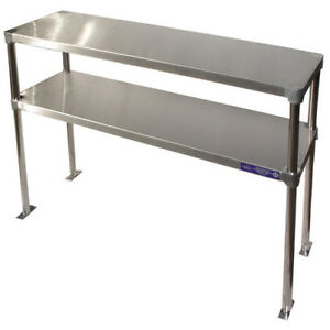 Stainless Steel Adjustable Double Over shelf 12 Wide Size 36