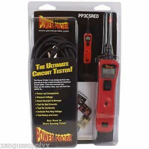 Power Probe 3 Voltmeter Test Light Continuity Relay Electrical Circuit Tester