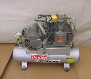 Nice Dayton Speedaire Industrial Duty Air Compressor Model 3z349d 1 Ccw