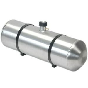 10 Inches X 16 Spun Aluminum Gas Tank 5 Gallons With Cap Gauge All In One