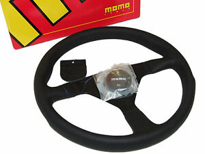 Momo Steering Wheel Monte Carlo 350mm Leather Black Spoke