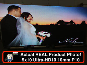 Used 2 Sided Outdoor Full Color Led Sign 5x10 126 l X 63 h Wifi P10 10mm